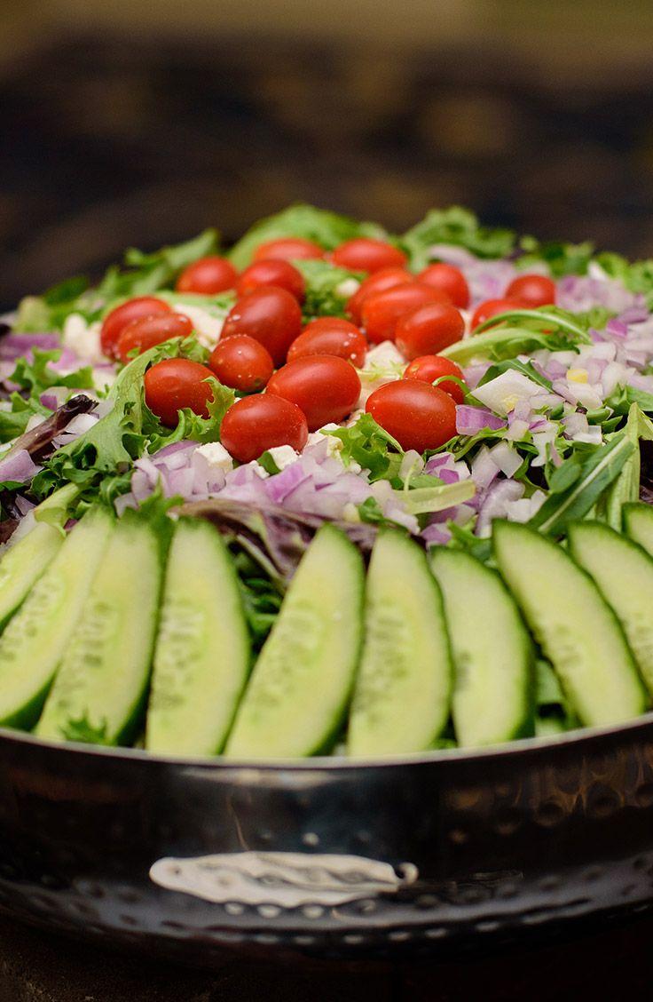 Iowa Events Center catering menu salad option Garden