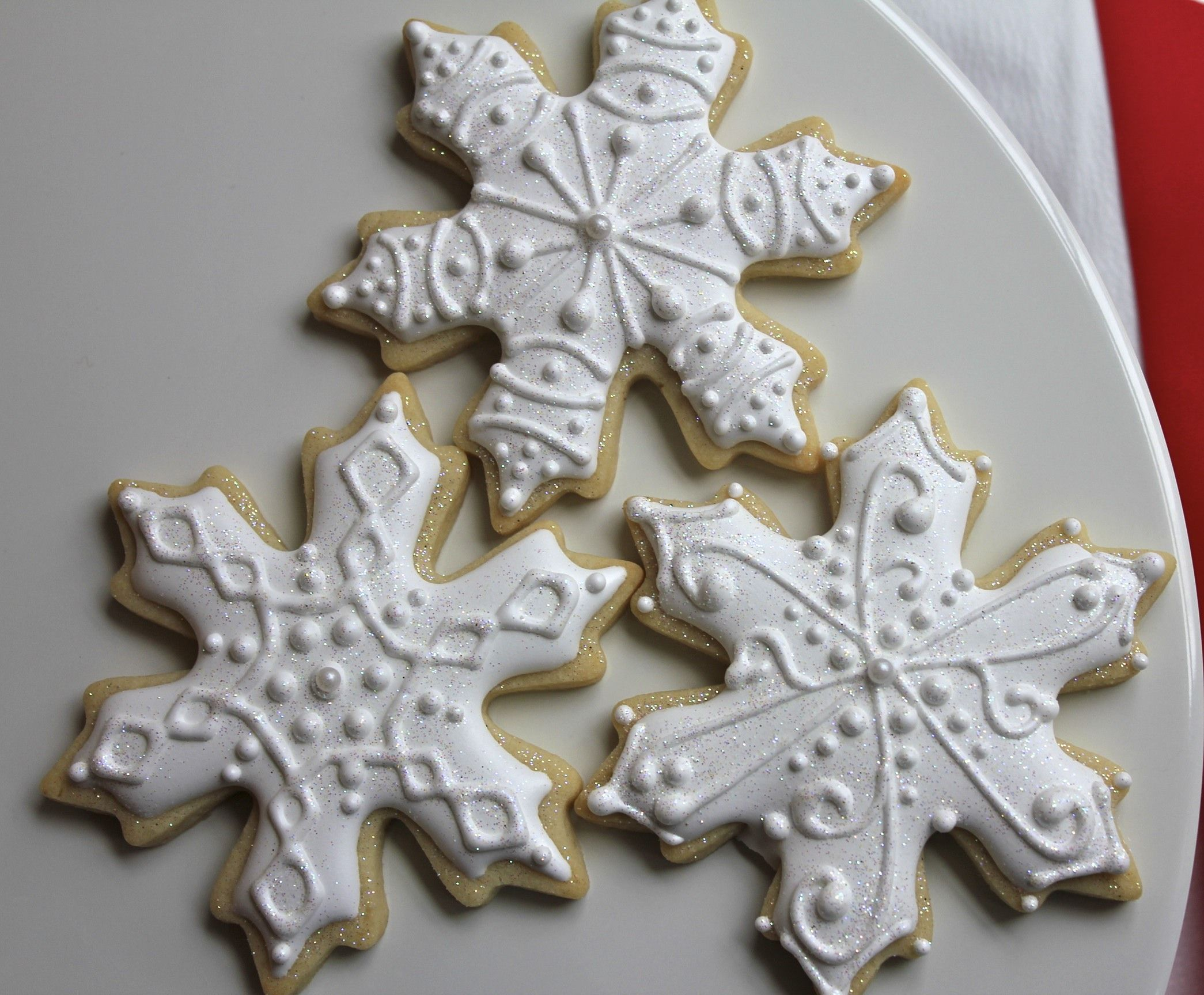 Image result for snowflake cookies