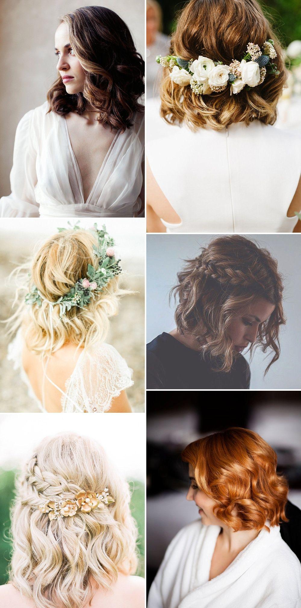 Wedding hair ideas for stylish brides u trends for short hair