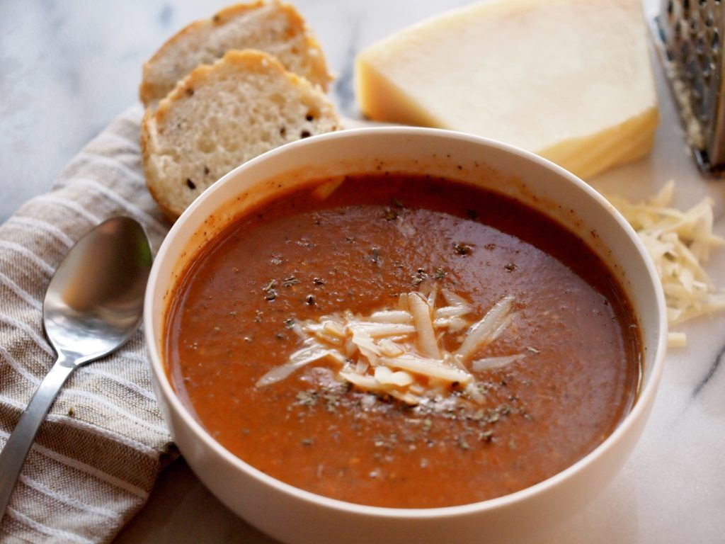 Slow Cooker Tomato Soup. This recipe only takes a few minutes to prepare!