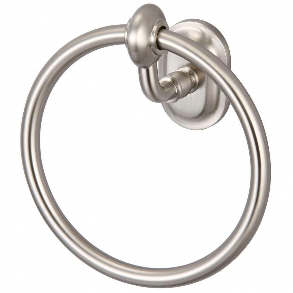 Photo of Water Creation Glass Series Towel Ring in Brushed Nickel-BA-0004-02 – The Home Depot