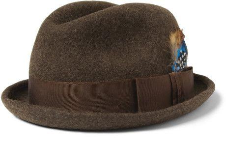 b8c090d4afc Paul Smith Woolfelt Trilby Hat in Brown for Men - Lyst