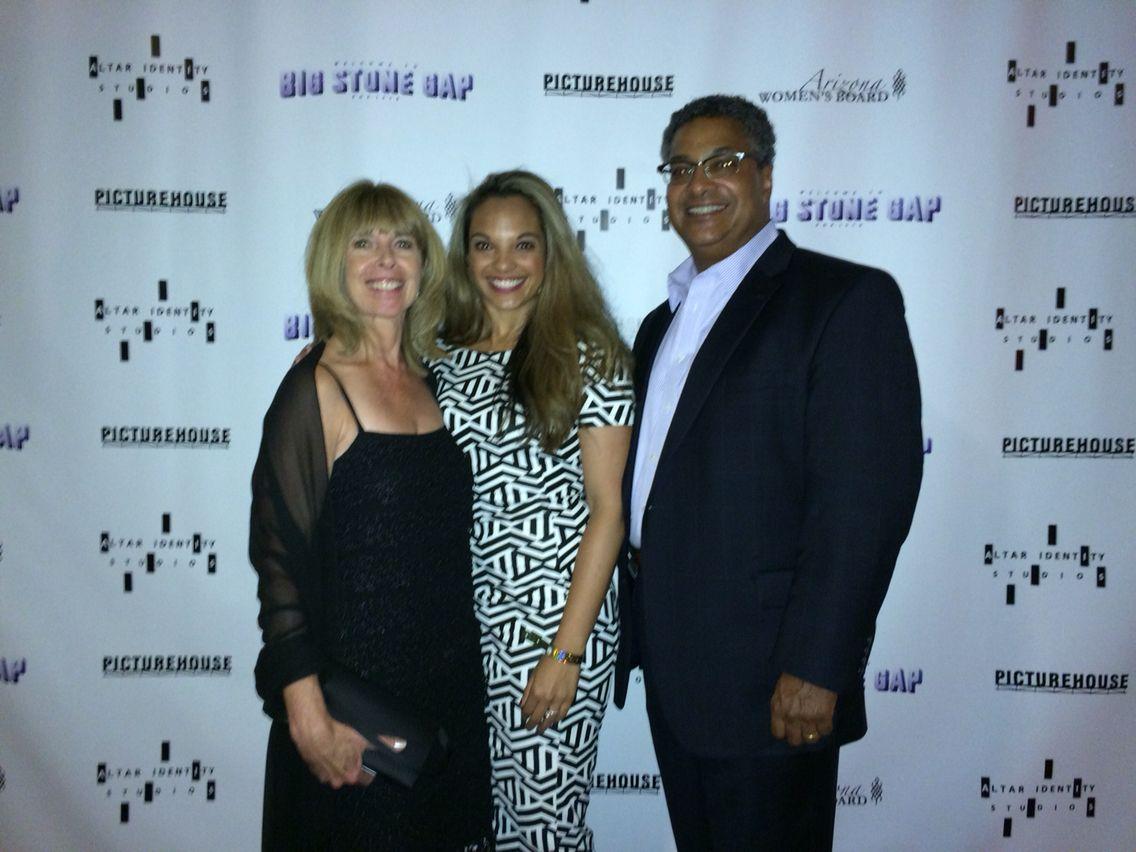 Erika, Teryn, and Ivan Williams at Big Stone Gap film