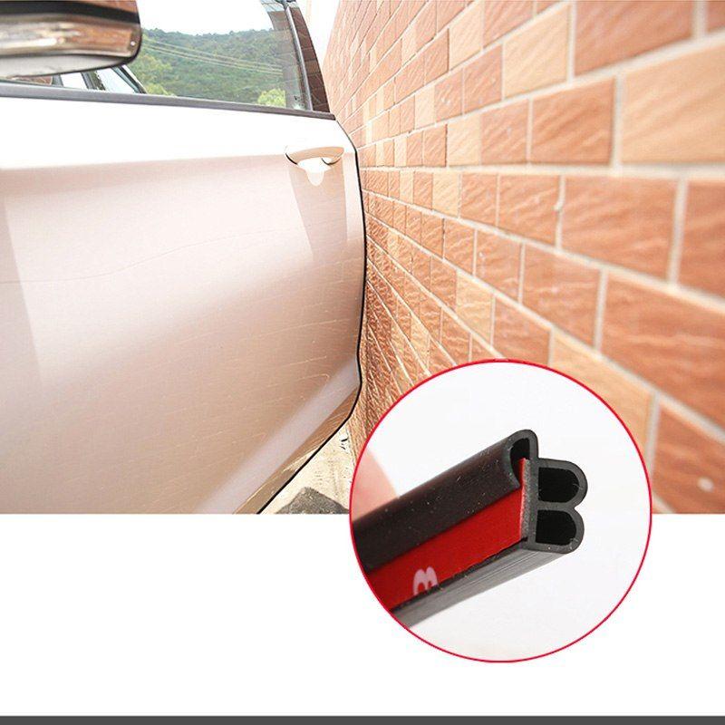 5m B Type Car Door Seal Waterproof Trim Sound Insulation Soundproof Weatherstrip Epdm Auto Rubber Seal Strips Intern Sound Insulation Sound Proofing Door Seals