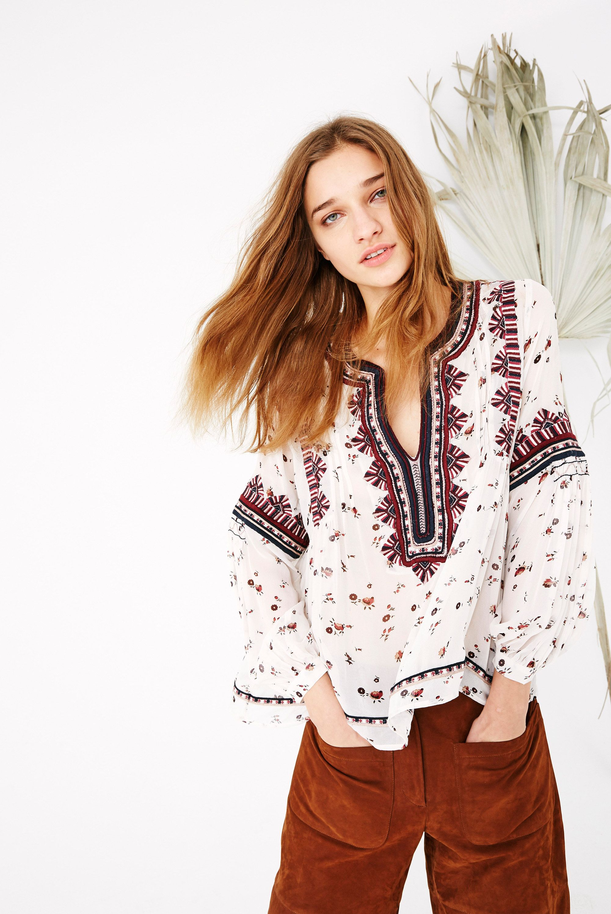 The authenticity of Ulla Johnson's global bohemian vibe truly shines through in the quality of her clothing, making her one of our favorite designers. Her clothing is certainly not easy to produce as it's literally hand carried all over the world to be hand-finished by expert artisans - the yarn