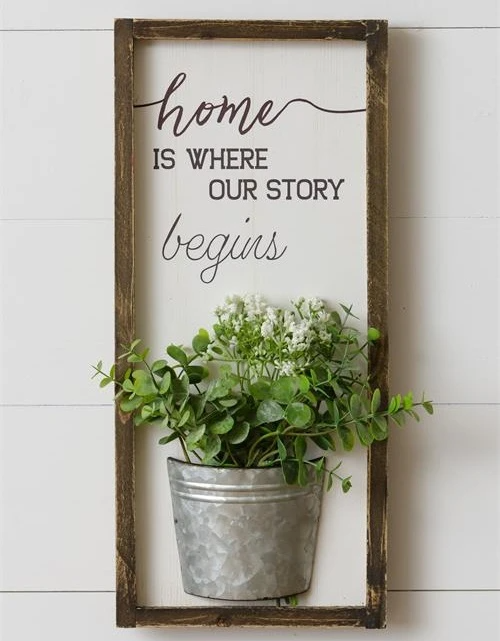 Home Is Where Our Story Begins Wall Decor