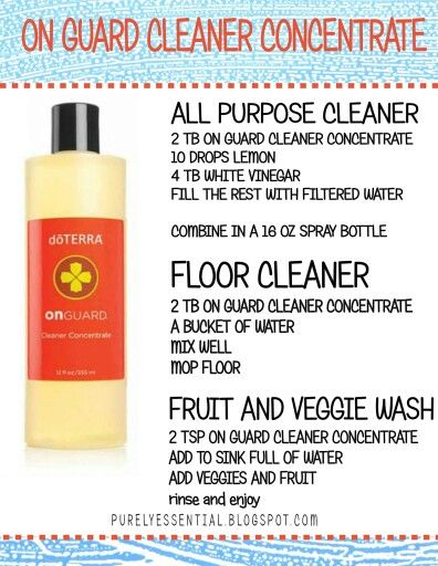 Onguard Cleaners From The Concentrate Essential Oils