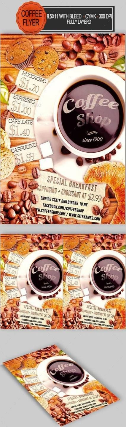 Trendy design flyer food coffee shop Ideas food design