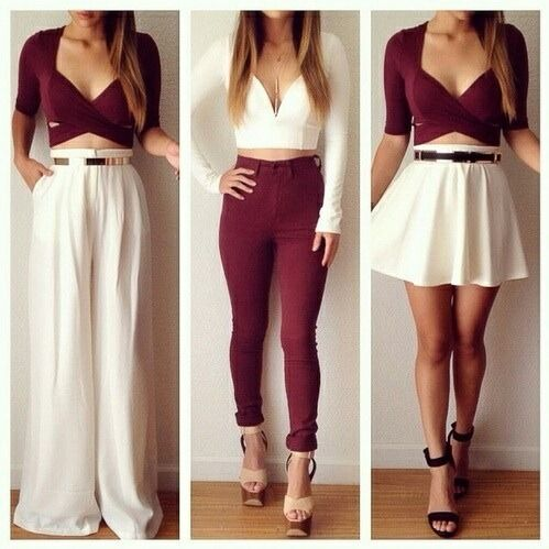 The two on either side are great. The middle? No. Never have a right top with way too tight pants. Ew.