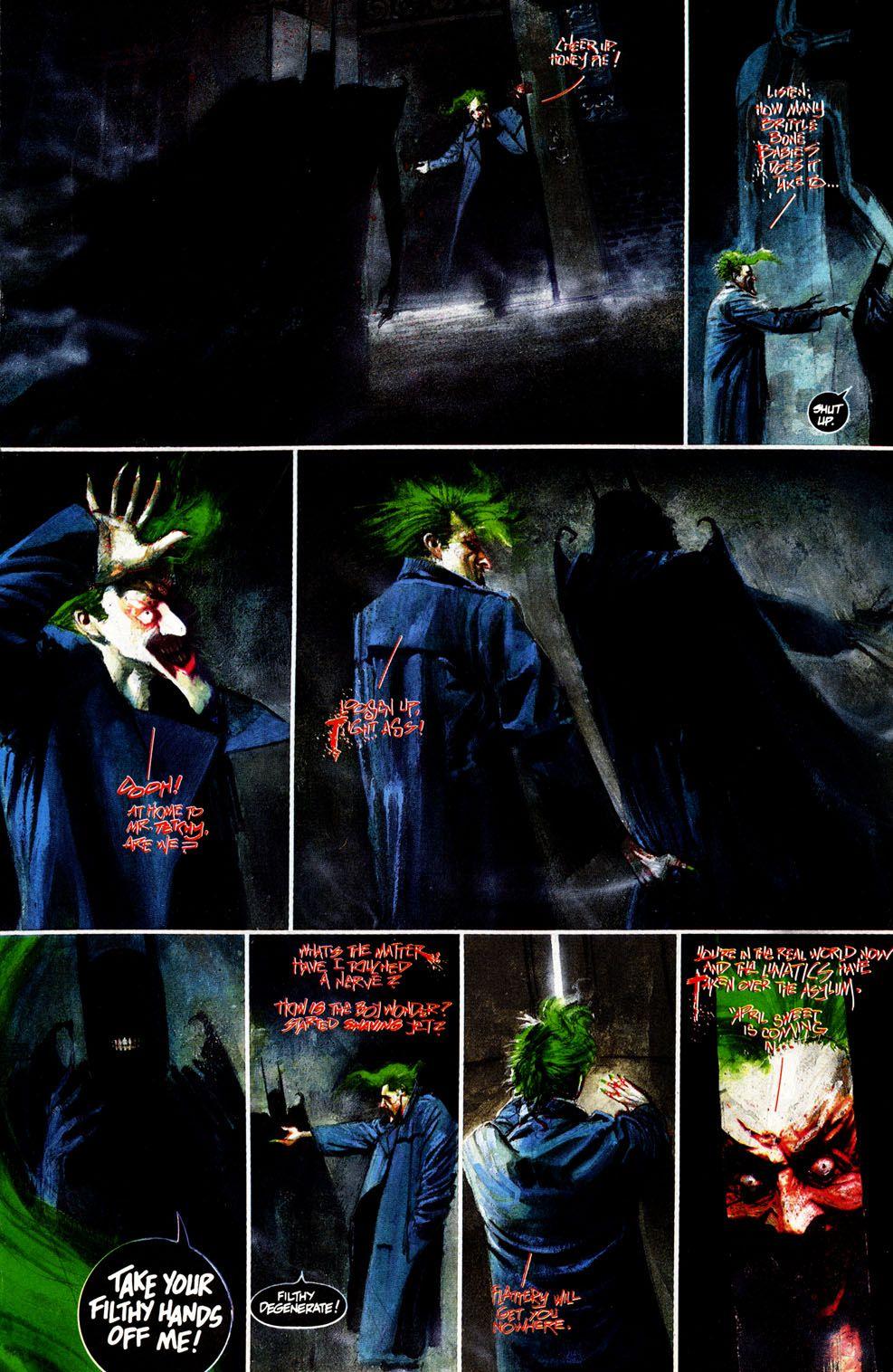Dave Mckeans Batman Arkham Asylum Batmaannn Pinterest Arkham