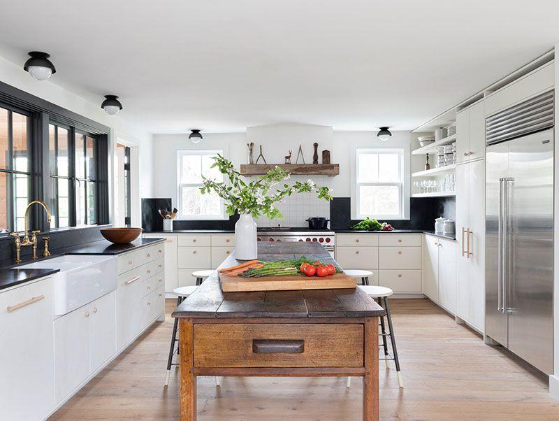 Lovely white cottage on Long Island | Custom kitchens ...