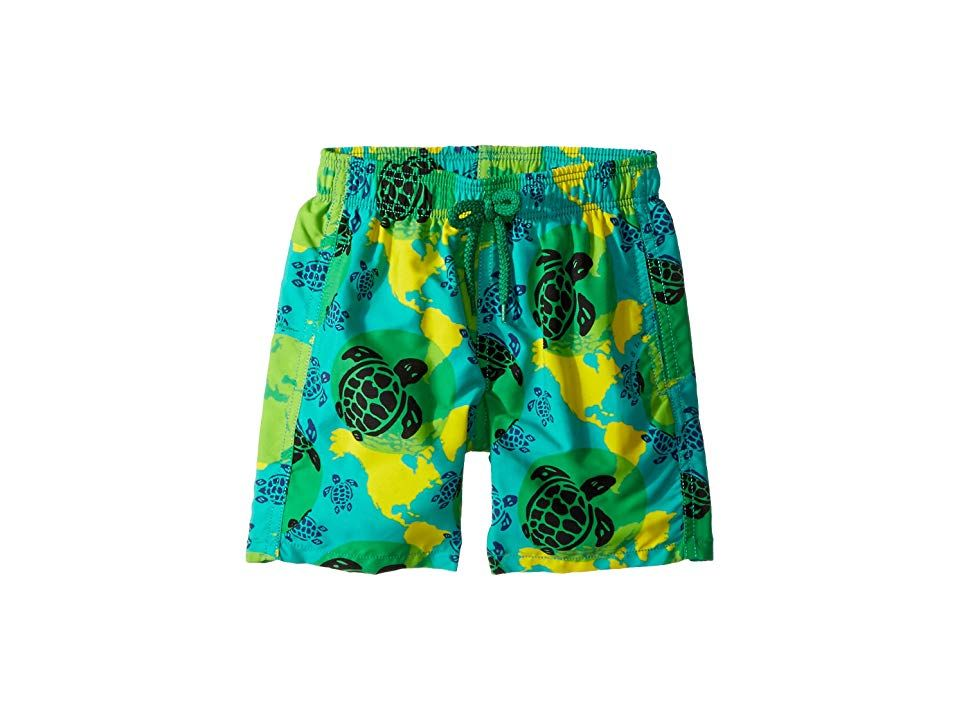 Vilebrequin Kids Mappemonde Dots Swim Trunk ToddlerLittle KidsBig Kids Green Boys Swimwear Hell dive right in wearing these Vilebrequin Kids Mappemonde Dots Swim Trunk St...