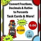 In this 52 page packet, you will will receive lots of activities for your students to learn how to convert fractions, decimals, and ratios into per...