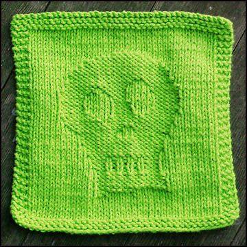 Free Knitting Pattern - Dishcloths & Washcloths : Skully Dishcloth ...