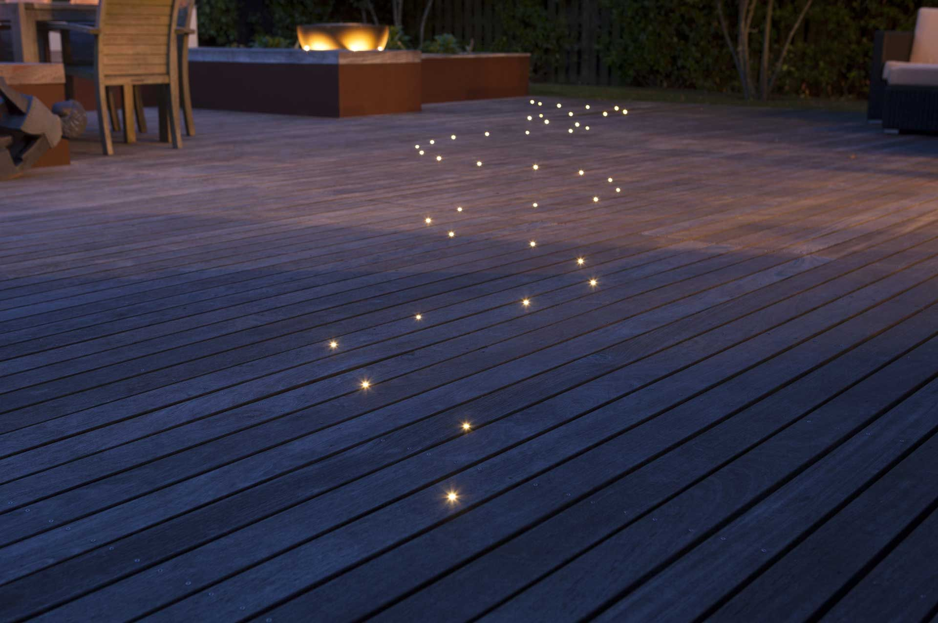 Garden deck lights in 2019 Lighting design, Landscape