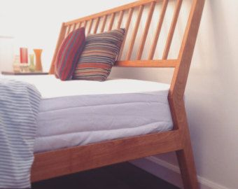 Best Platform Bed Frame Free Shipping Solid Walnut Danish 400 x 300