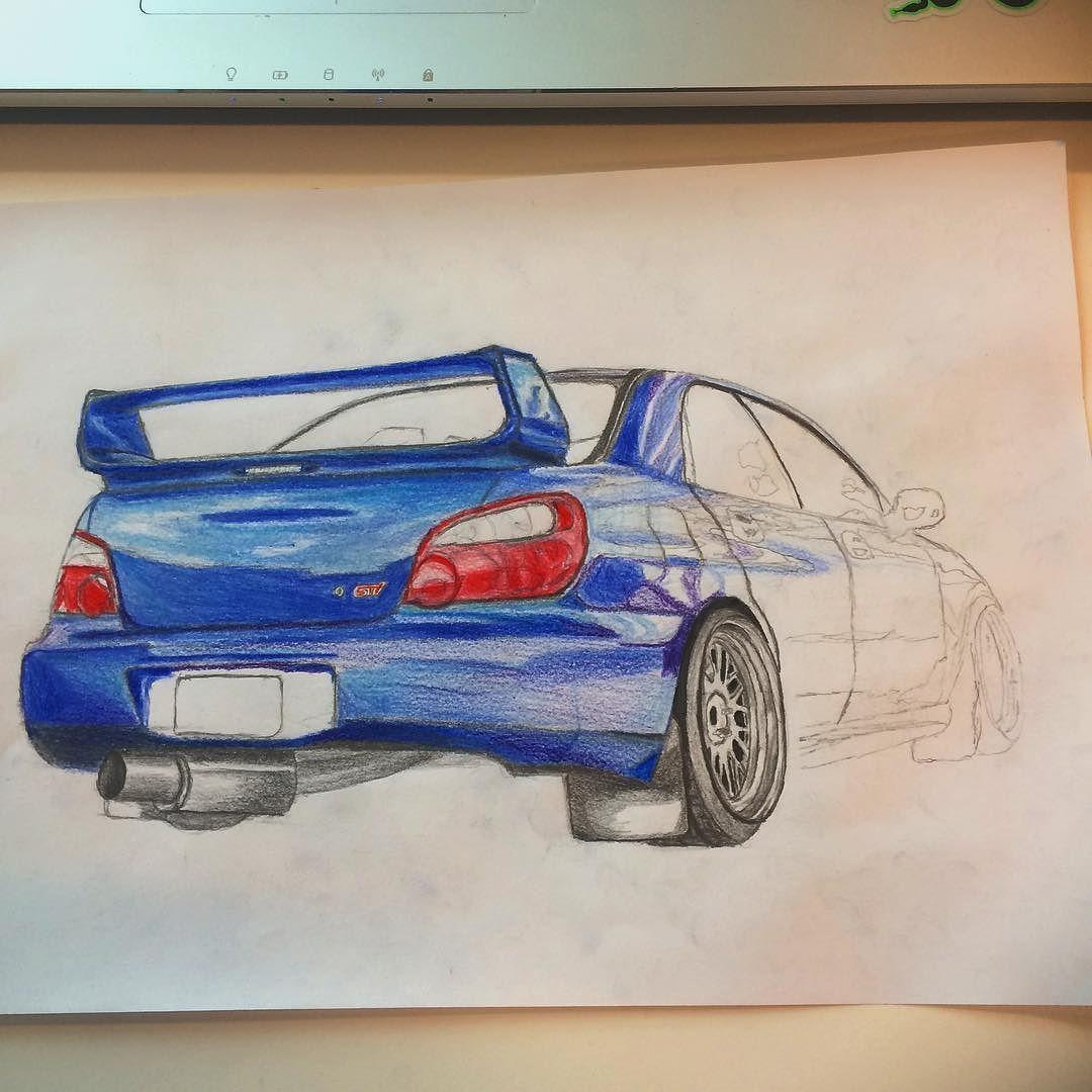 Subaru Impreza WRX STI #drawing #cars #subaru #imprezawrx ...