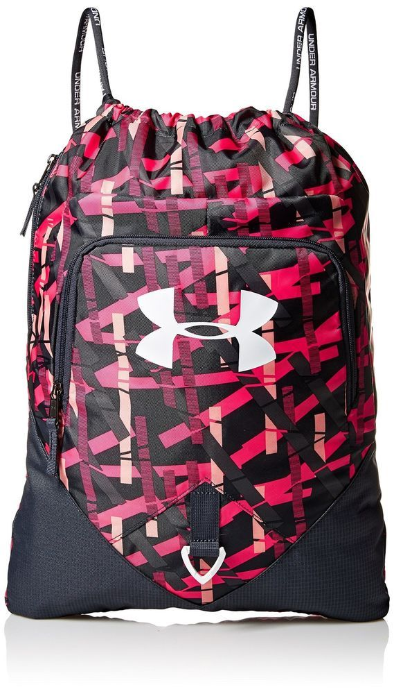 4e9a99d01946 Under Armour Undeniable Sackpack Ballet Pink Stealth Gray One Size New   UnderArmour