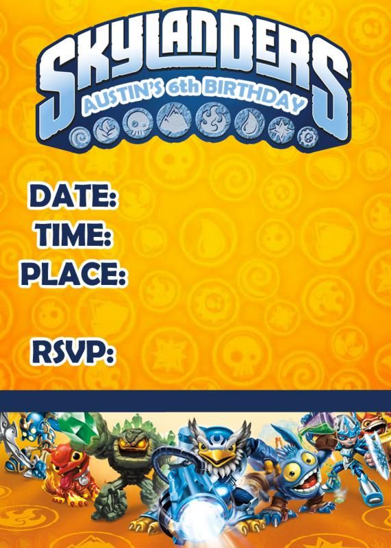 Need help for a Skylanders Birthday - Page 29 - The DIS Discussion Forums - DISboards.com