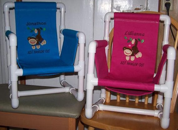 Pvc Kids Chairs This One Has Sides If Making The Seat Yourself