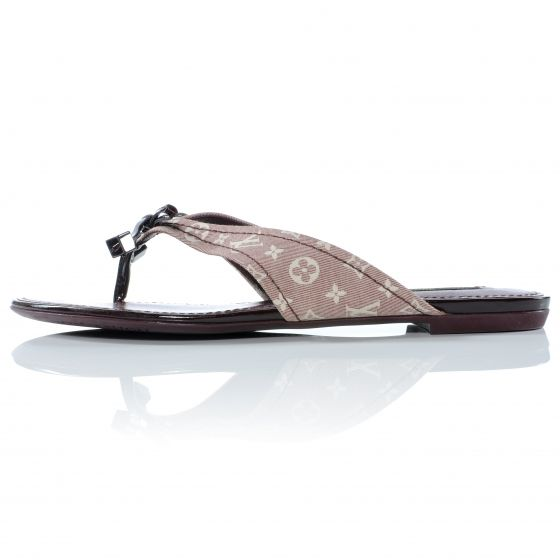 f8391c00b4f LOUIS VUITTON Idylle Debbie Thong Sandals 38 Sepia