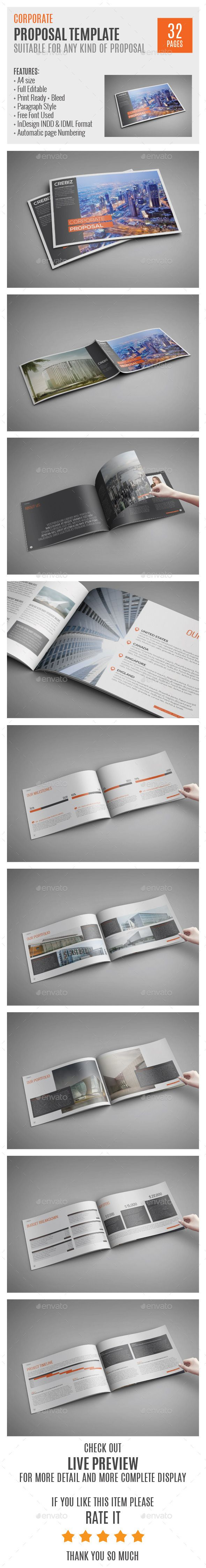 Corporate Proposal A4 Indesign Template 0034