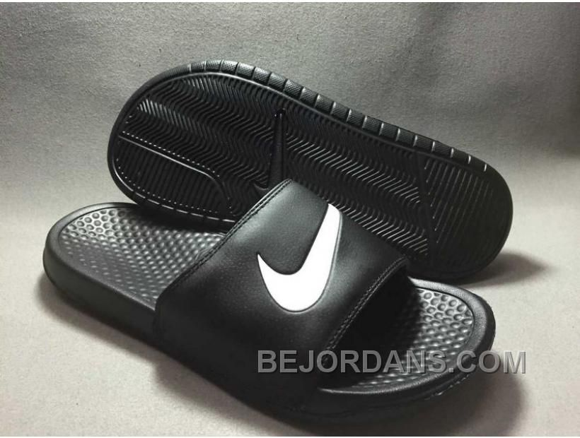 GERMANY NIKE BENASSI SWOOSH WOMENS RUNNING SHOES SALE BLACK AND WHITE 2QYCH  Only 8000  Free Shipping