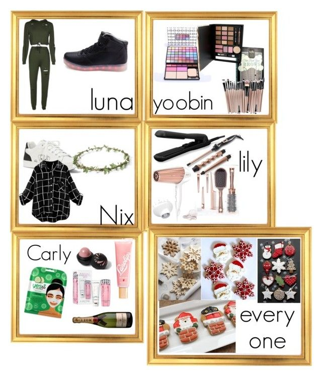 """""""《Christmas Presents》 [Christina]"""" by christina-of-silv3r ❤ liked on Polyvore featuring beauty, Billion Dollar Brows, Measurable Difference, ED Ellen DeGeneres, Fahrenheit, Trevor Sorbie, Yes to Cucumbers, River Island, Lano and Lancôme"""