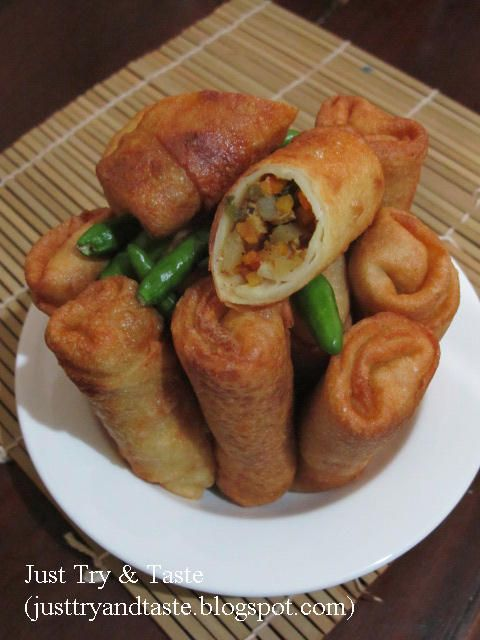 Just Try Taste Lumpia Goreng Isi Sayuran Resep Makanan Sehat Resep Masakan Indonesia Resep Makanan