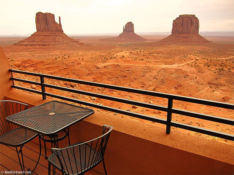View From The Hotel Monument Valley Navajo Nation