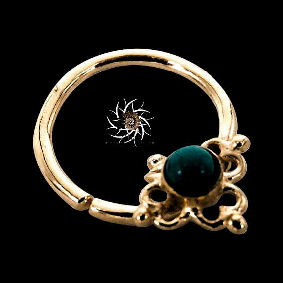 Gold Nose Ring Gold Nose Hoop Indian Nose Ring Tribal Nose Ring
