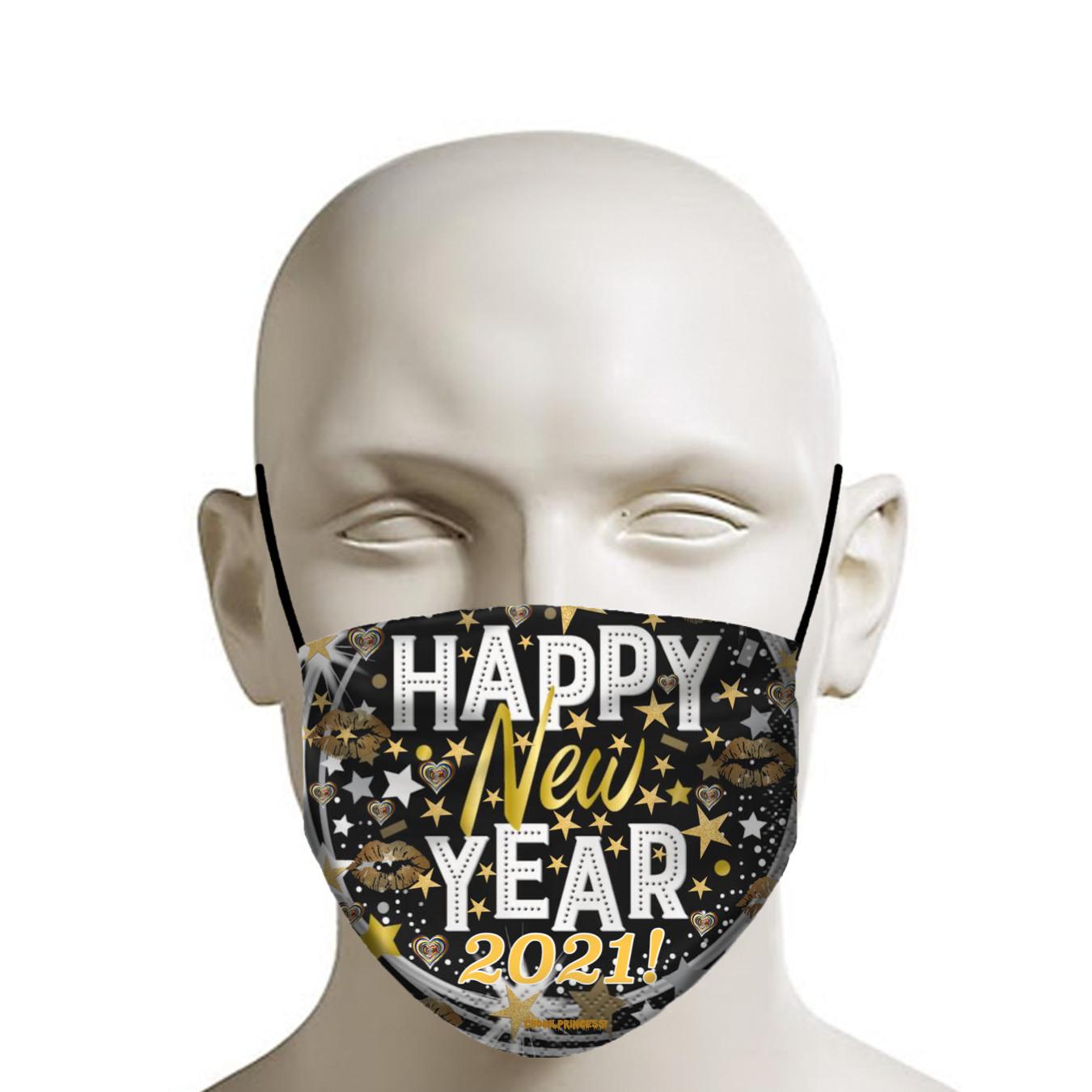 Happy New Year 2021 Face Mask Cbdoilprincess In 2020 Face Mask Happy New Year Happy New