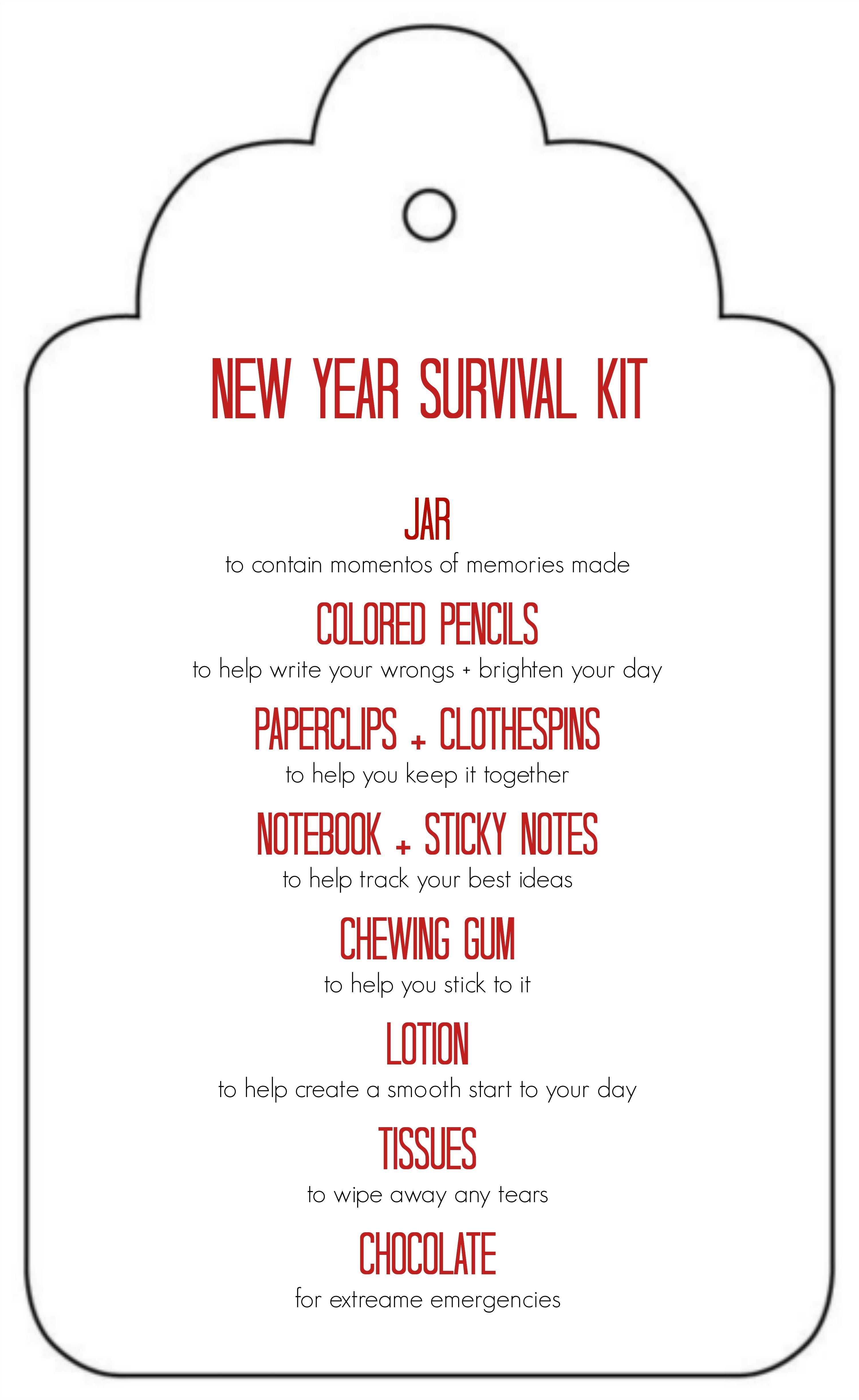 Diy New Years Survival Kit Fun Teachers Gifts Survival Kit Gifts Survival Kit For Teachers Teacher Survival