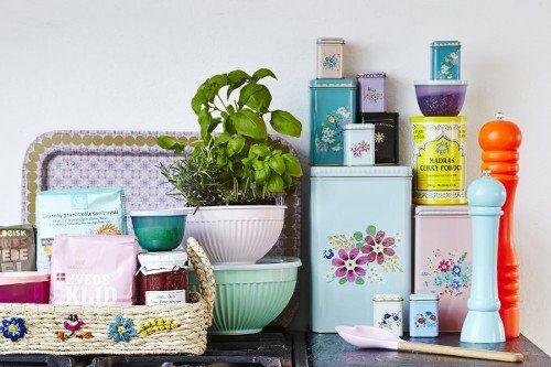 Rice - Set blikken met mooie bloemenprint - Madame La Poule