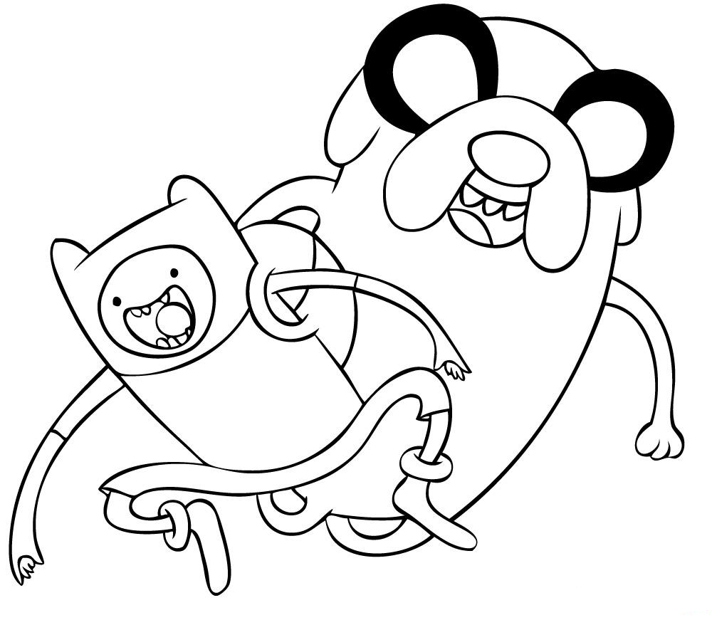 Adventure Time | Coloring pages for children at the library | Pinterest