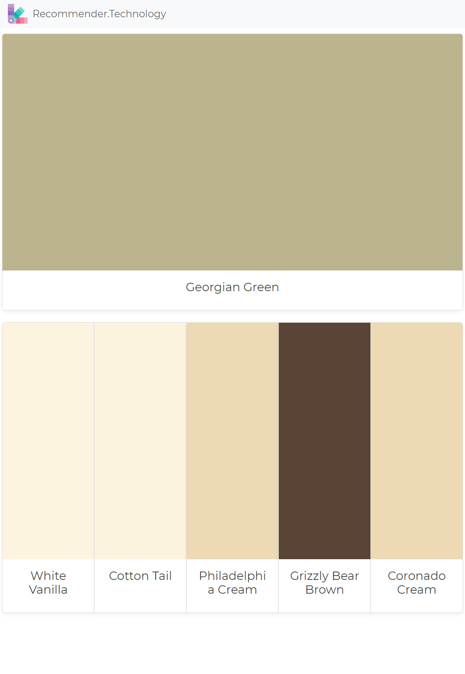 Benjamin Moore Georgian Green georgian green: white vanilla, cotton tail, philadelphia