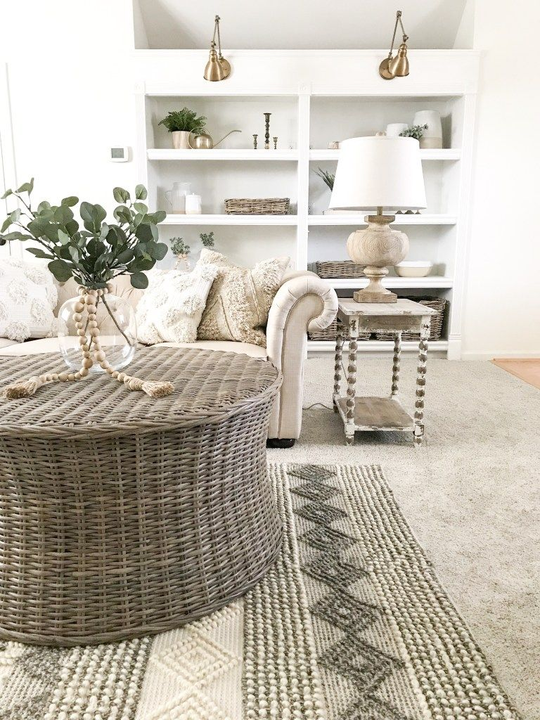 Makeover With Overstock Bonus Room Reveal Bless This Nest Rugs In Living Room Living Room Carpet Rug Over Carpet #rug #over #carpet #living #room