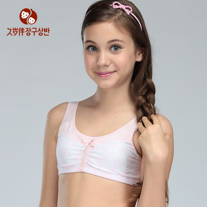 54219cf990 Factory high quality girls underwear sweet teenage underwear girls puberty  padded bras A cup training undershirt a piece 3022