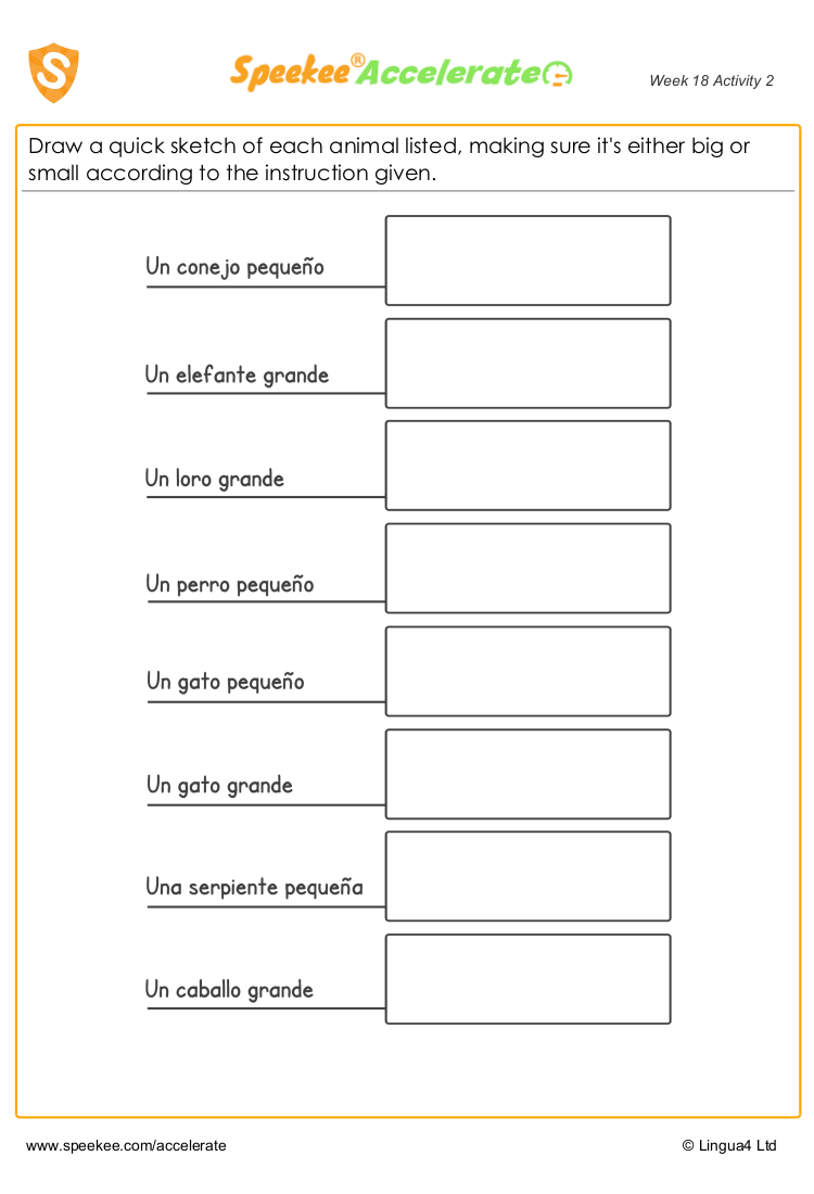 Animals In Spanish Worksheet Spanish Printables Spanish Animals Homeschool Spanish
