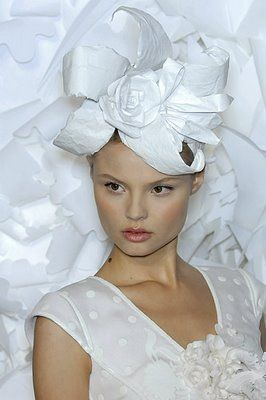 Chanel Haute Couture – Hats. White paper rose. Perfection!