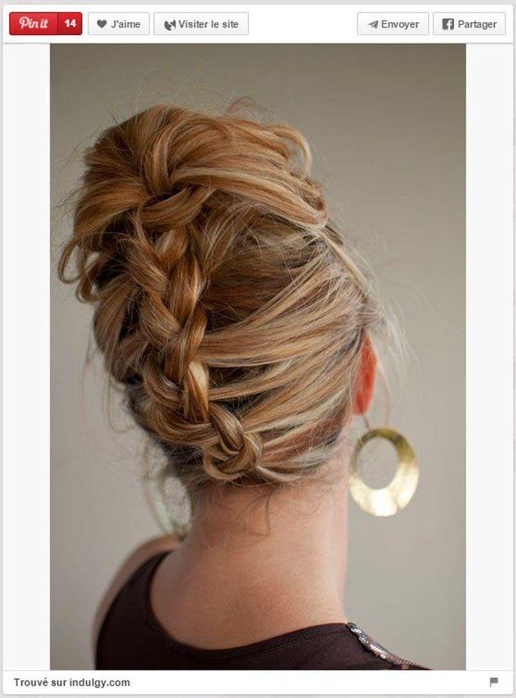 Chignon banane modernisé | Belle coiffure, Tuto coiffure cheveux long, Coiffure