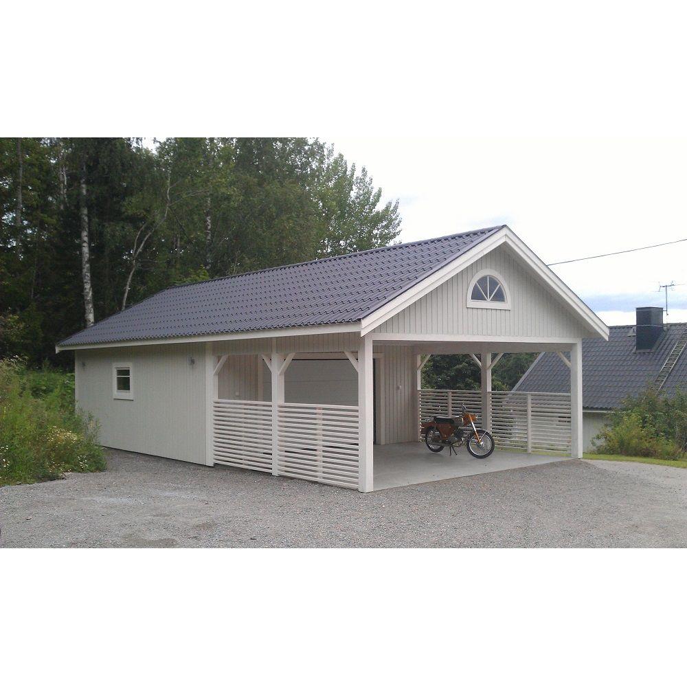 Lövångers Bygg Garage med Carport 6,0 x 10,8 m Special