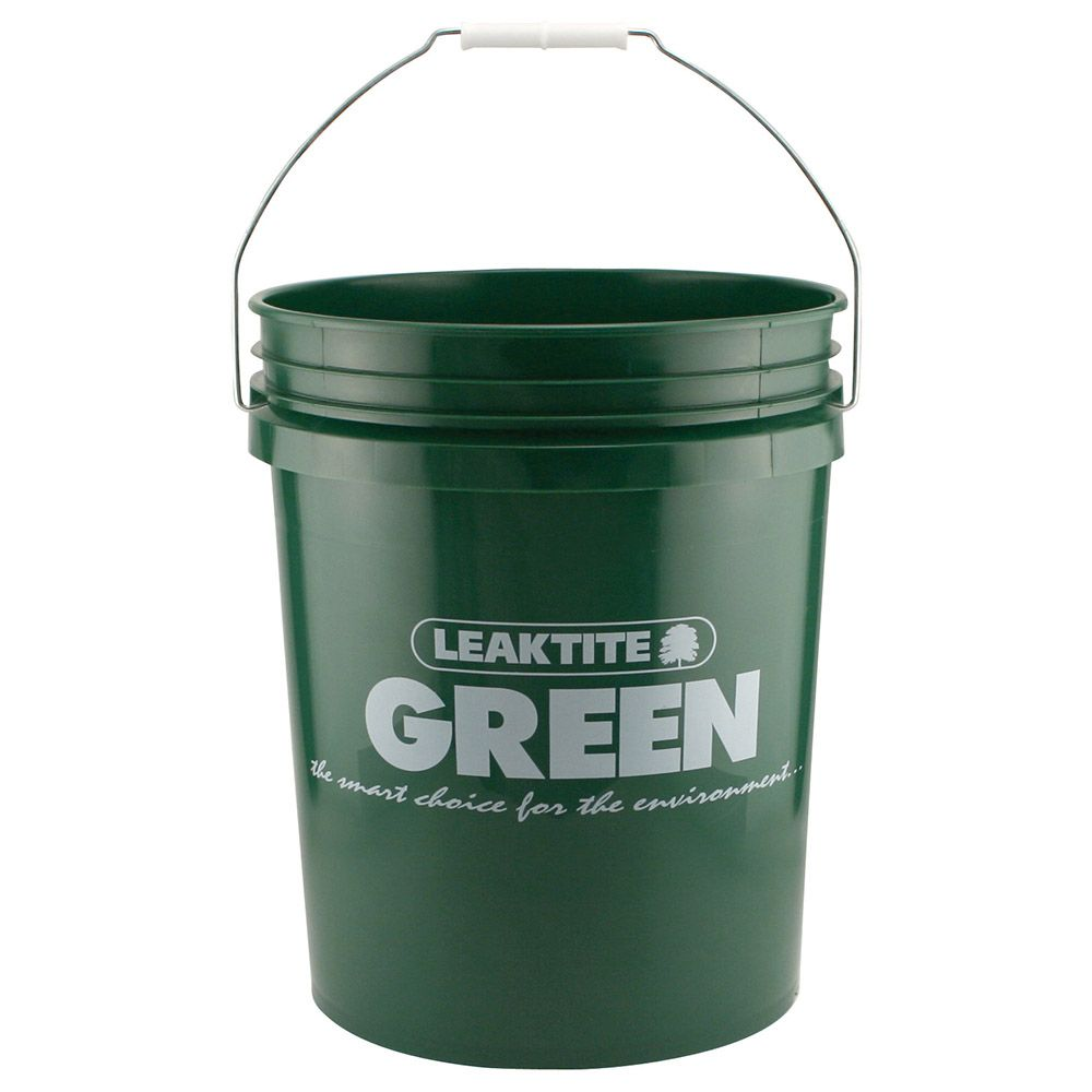8 37 Recycled Hdpe Green 5 Gallon Bucket Lid U S Plastic Corp Plastic Pail Pail Plastic Buckets