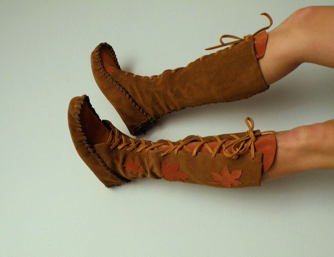 MADE FOR YOU, Lace-up moccasins. $280.00, via Etsy.