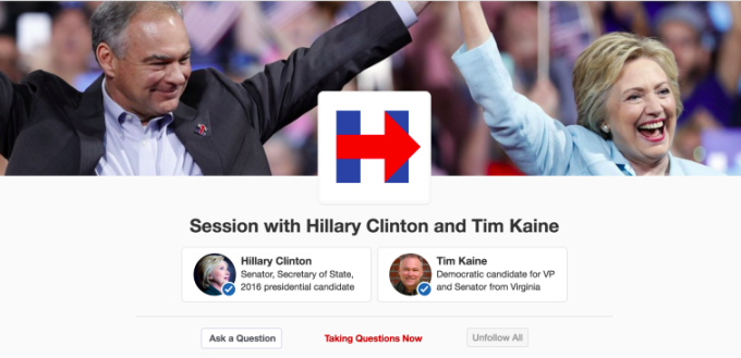 Hillary Clinton and Tim Kaine are taking to Quora on the heels of Trumps AMA