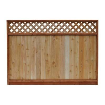 68 1 2 In X 8 Ft Western Red Cedar Lattice Top Fence Panel