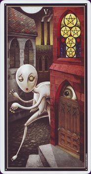 Example card from the Deviant Moon Tarot deck. DISCOVER MORE: http://www.tarotacademy.org/deviant-moon-tarot-borderless-edition/
