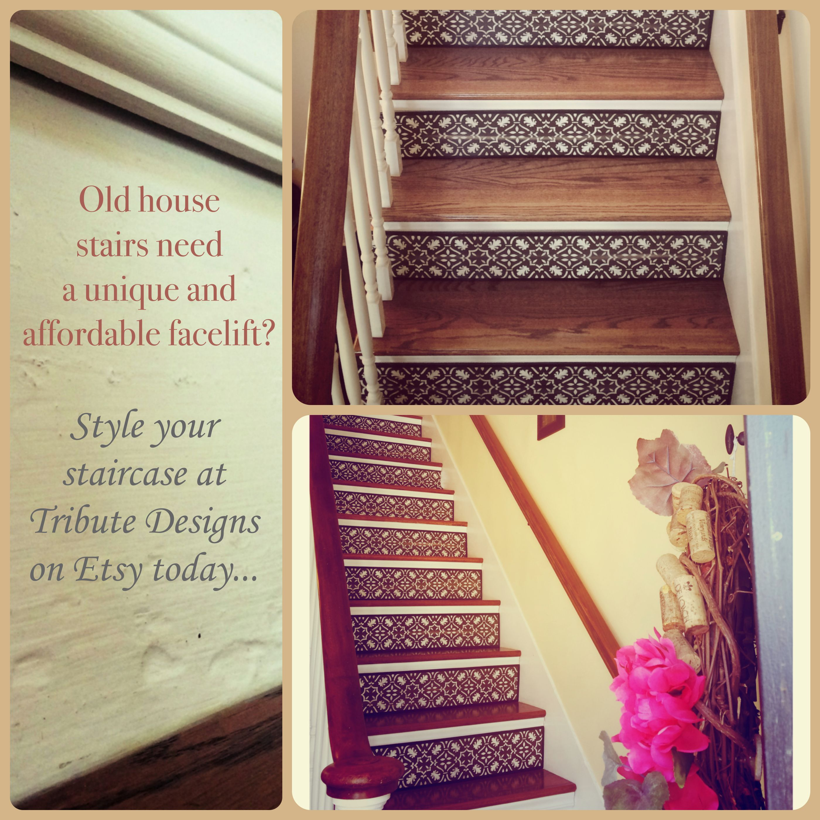 Superior Looking For A Unique And Affordable Facelift For Your Old House Stairs?  Tribute Designs Creates Stair Riser Art In Custom Sizes, Patterns And  Colors.