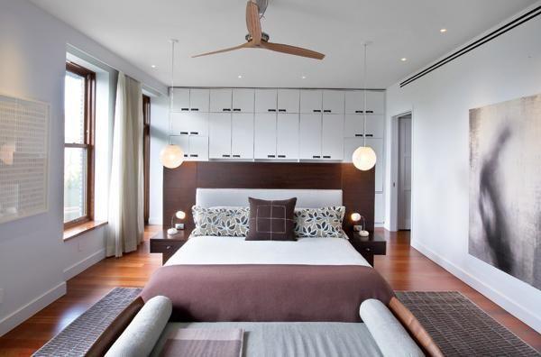 wand über bett schränke regale idee lila weiß | Bedroom | Pinterest ...