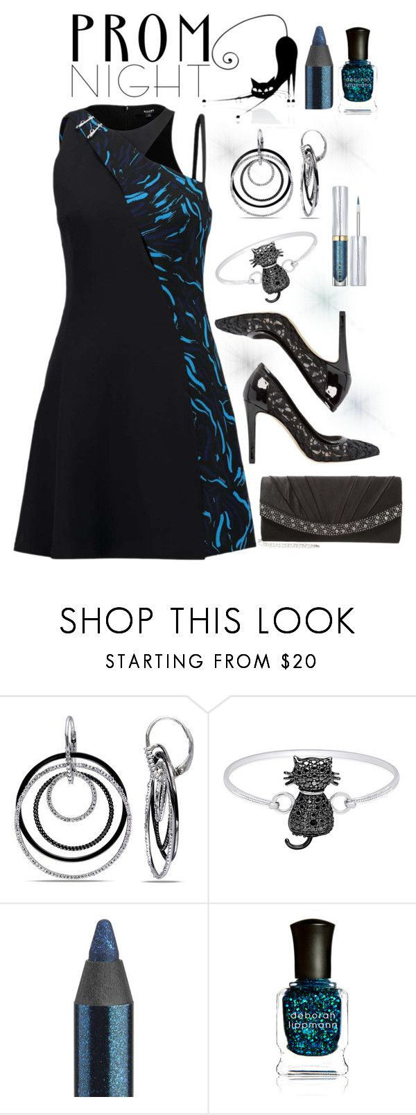 """The perfect prom night"" by amisha73 ❤ liked on Polyvore featuring Ice, Finesque, Anna Field, Urban Decay, Deborah Lippmann and PROMNIGHT"